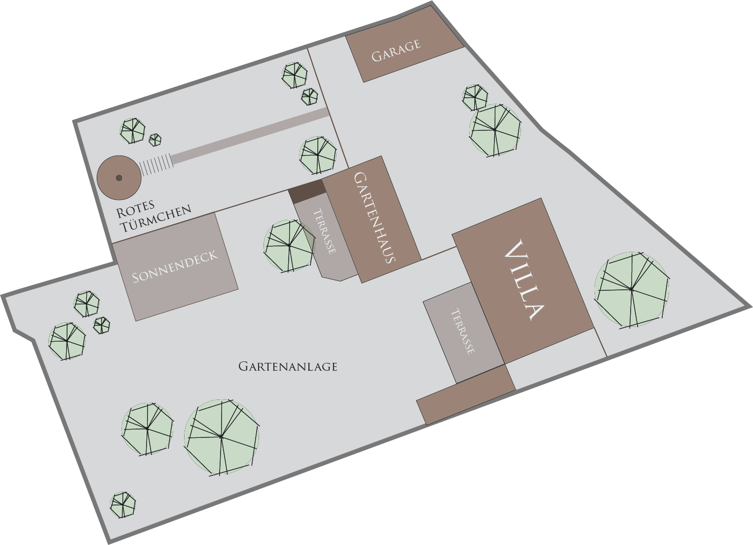 Lageplan Villa Ludwig